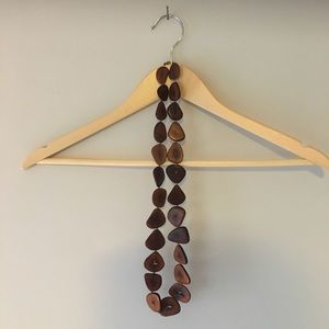 Vintage 60's Wood Necklace